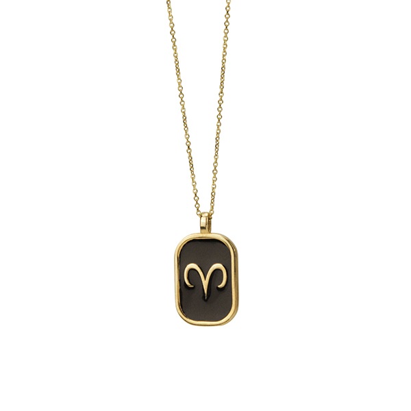 Aries enamel Necklace