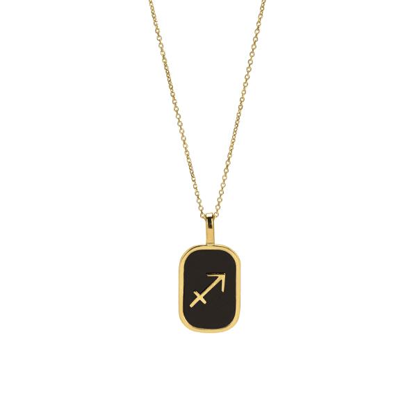 Sagittarius enamel Necklace