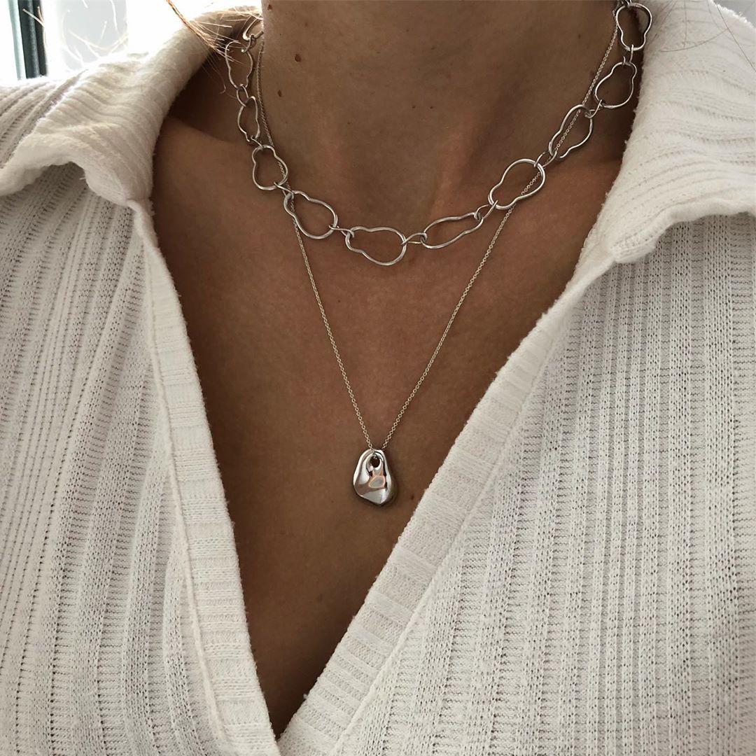 Semina silver necklace