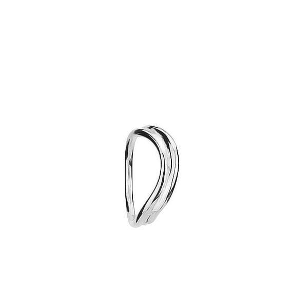 Double float silver ring